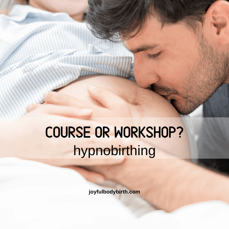 hypnobirthing course or workshop